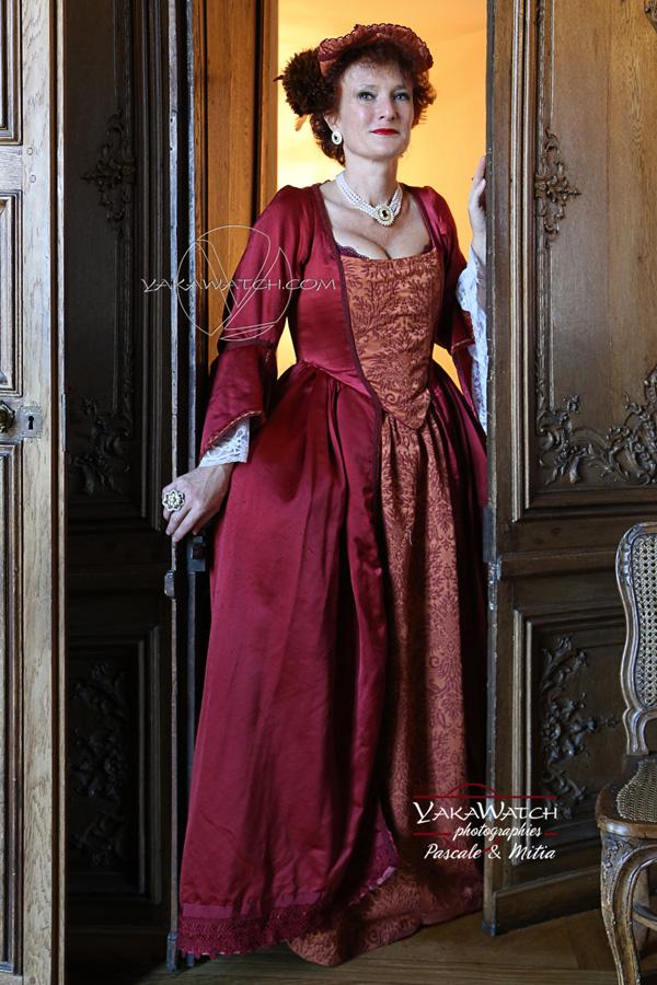 comedienne costumée au château de Rambouillet