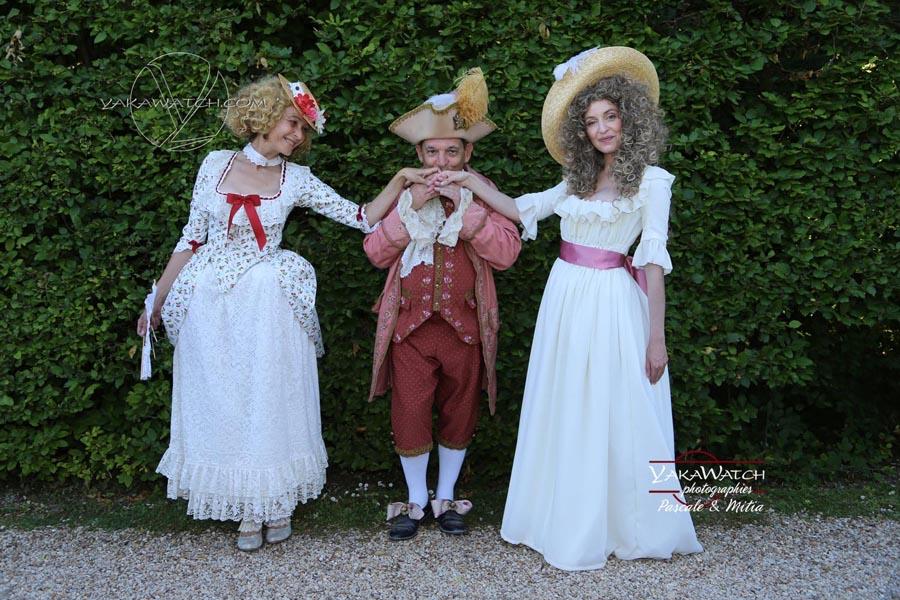 Une journée grand siècle à Vaux le Vicomte - scène galante en costume historique